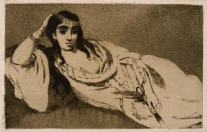 《横たわるオダリスク》 1868年 エッチング、アクアチント