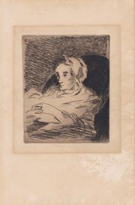 《病後》 1876-78年 エッチング、アクアチント