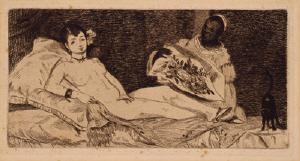 《オランピア》 1867年 エッチング、アクアチント