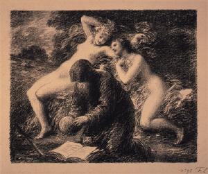 《聖アントニウスの誘惑(マルティ版『レスタンプ・オリジナル』第3号所収)》 1893年刊 リトグラフ