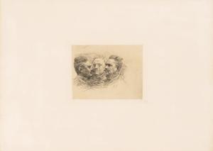 《アンリ・ベックの肖像(マルティ版『レスタンプ・オリジナル』第2号所収)》 1893年刊 ドライポイント
