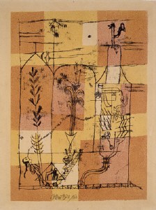 《ホフマン風物語の情景》 1921年 リトグラフ・羊皮紙