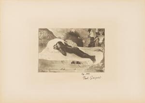 《マナオ・トゥパパウ(死霊が見ている)(マルティ版『レスタンプ・オリジナル』第6号所収)》 1894年刊 リトグラフ