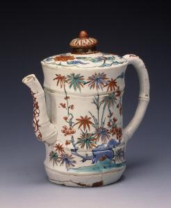 《色絵竹梅文竹形水注》 江戸時代 1670-1690 磁器