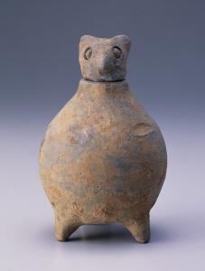 《灰陶鴟鶚尊》 漢時代 土器