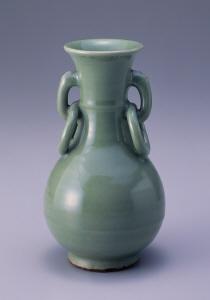《青磁耳付瓶》 元時代 14世紀 磁器
