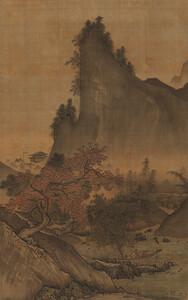 四季山水図(秋幅)