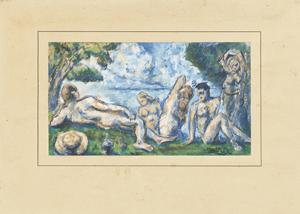 《水浴》 1865-70年頃 水彩・紙