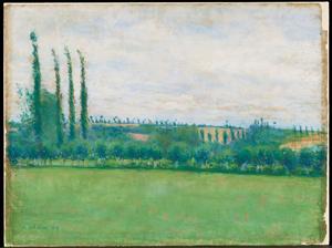 《Prairie, Yerres》 1878 Pastel on paper