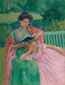 《娘に読み聞かせるオーガスタ》 1910年 油彩・カンヴァス