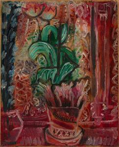 《チューリップ》 1919年 油彩・厚紙に貼られた紙