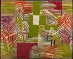 《ストロベリーハウスの建築工事》 1921年 油彩・厚紙