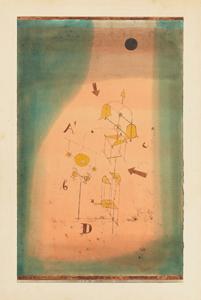《数学的なヴィジョン》 1923年 油彩、水彩・厚紙に貼られた紙